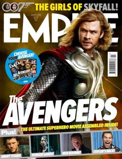 Portada alternativa de Empire de Marzo de 2012, dedicada al Thor en The Avengers