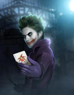 Fan Art de Jared Leto caracterizado como el Joker