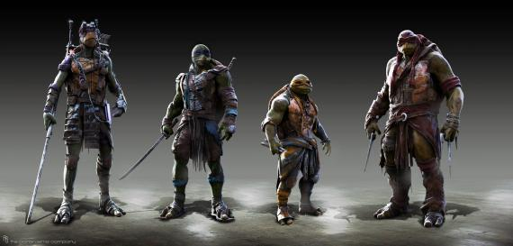 Concept art de Teenage Mutant Ninja Turtles (2014), por Jared Krichevsky