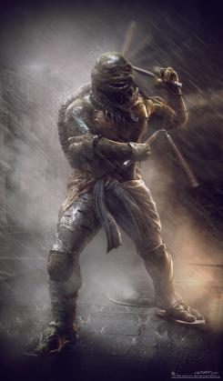 Concept art de Michelangelo en Teenage Mutant Ninja Turtles (2014), por Jared Krichevsky