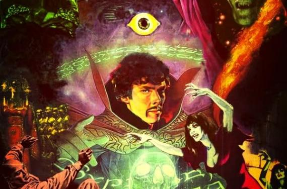 Fan-art poster de Doctor Extraño (2016) con el actor Benedict Cumberbatch