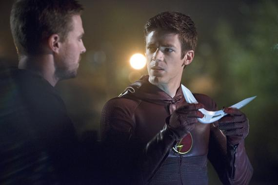 Imagen promocional de The Flash 1x08: Flash vs. Arrow