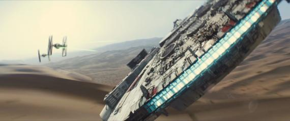 Captura del primer teaser trailer de Star Wars: El Despertar de la Fuerza / Star Wars: The Force Awakens (2015)