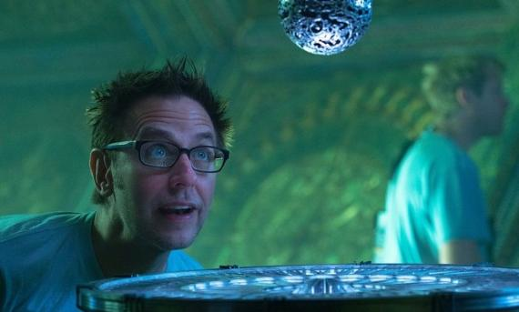 El director James Gunn en el set de Guardianes de la Galaxia (2014)