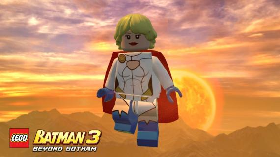 Power Girl en el paquete Heroines and Villainesses de LEGO Batman 3: Más allá de Gotham (2014)