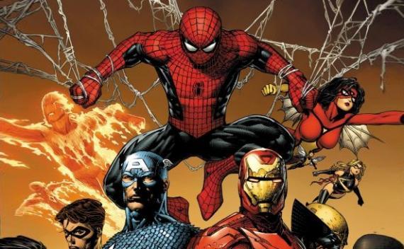 Spider-Man junto a los Vengadores