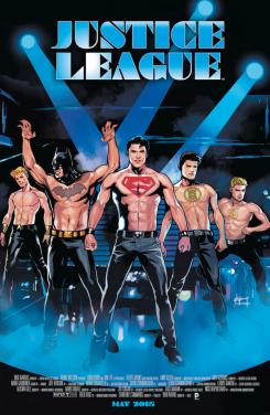 Justice League #40 inspirada por Magic Mike, con portada de Emanuela Lupacchino