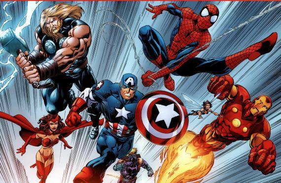 Los Vengadores con Spider-Man en los cómics