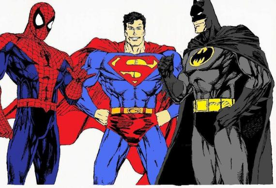Spider-Man, Superman y Batman juntos