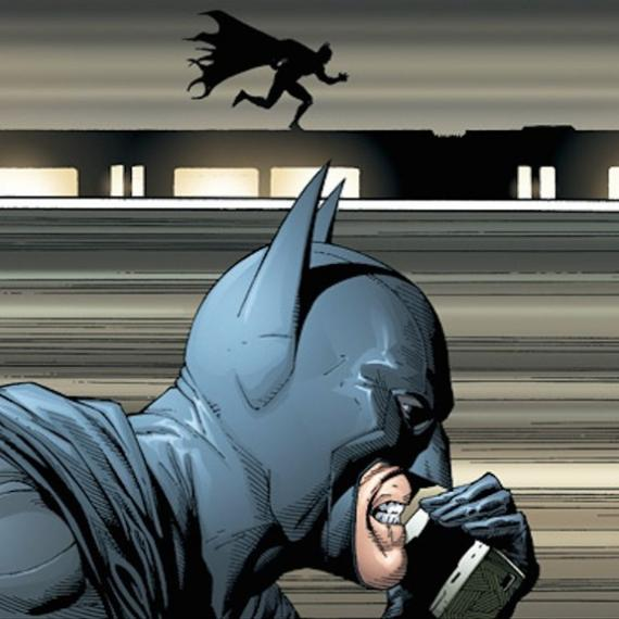 Panel de Batman: Earth One vol. 2 por Geoff Johns y Gary Frank