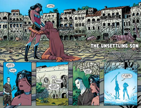 Página doble de Wonder Woman #27