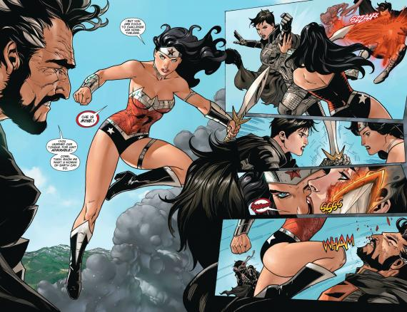 Página doble de Superman / Wonder Woman #5
