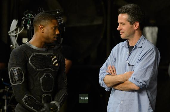 Michael B. Jordan en el set de The Fantastic Four (2015)