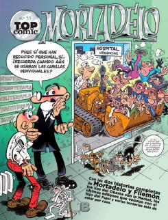 Portada de Top Cómic nº 55 Mortadelo. Los monstruos
