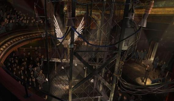 Angel en concept art de X-Men: Apocalypse (2016)