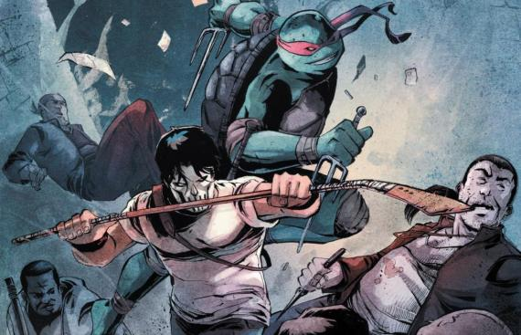 Casey Jones y Raphael en los cómics Teenage Mutant Ninja Turtles