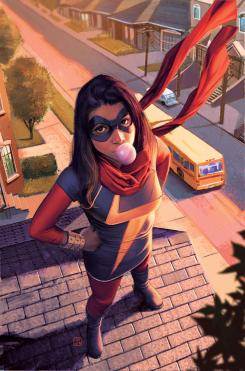 Portada alternativa de Ms. Marvel vol. 3 #2 por Molina, Kamala Khan la nueva Ms. Marvel