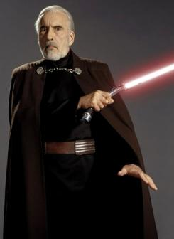 Christopher Lee como el Conde Dooku