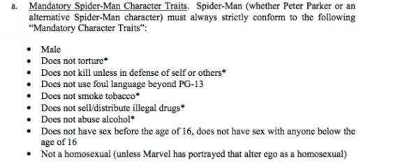 Requisitos de Peter Parker / Spider-Man en el acuerdo entre Marvel Studios y Sony