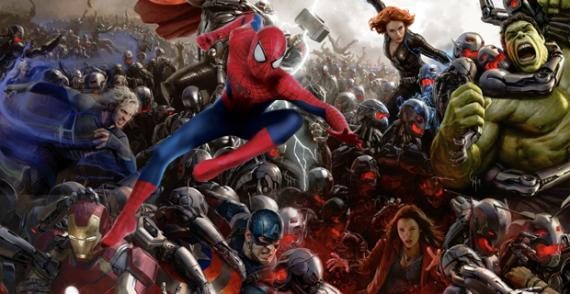 Fan-art de Los Vengadores con Spider-Man para Civil War