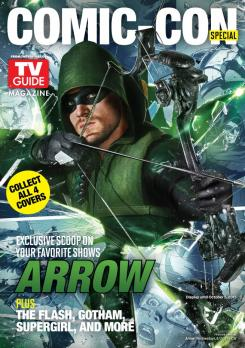 Portada de Arrow del número de TV Guide para la San Diego Comic Con 2015