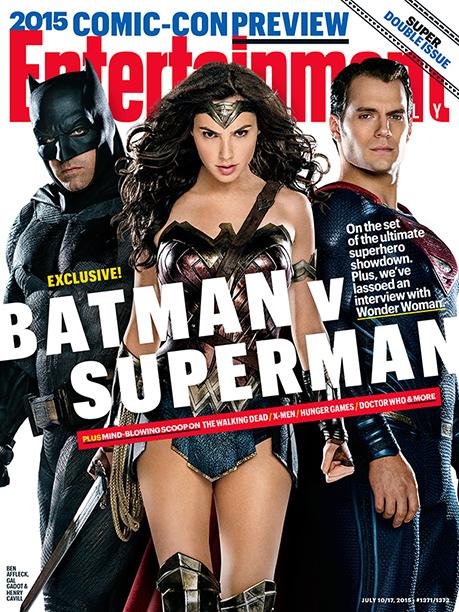 Portada de la revista Entertainment Weekly, con Batman v Superman: El Amanecer de la Justicia (2016)