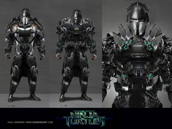 Arte conceptual de Shredder descartado para Teenage Mutant Ninja Turtles (2014)