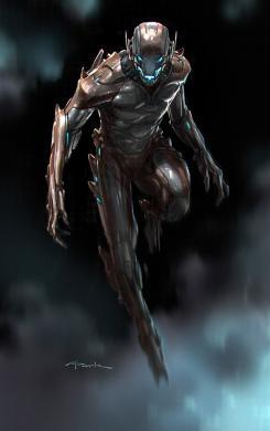 Diseño alternativo inicial de Ultrón en Los Vengadores: Era de Ultrón (2015), por Andy Park