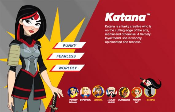Promo de DC Super Hero Girls con Katana