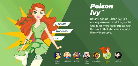 Promo de DC Super Hero Girls con Poison Ivy