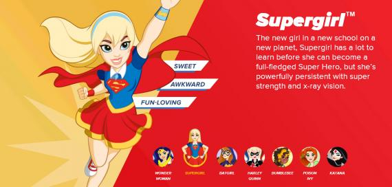 Promo de DC Super Hero Girls con Supergirl
