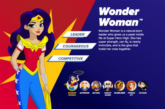 Promo de DC Super Hero Girls con Wonder Woman