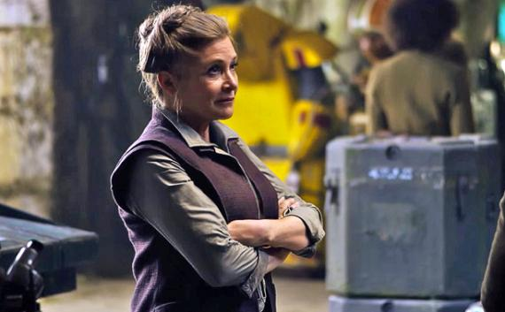 Carrie Fisher en Star Wars: El Despertar de la Fuerza (2015)