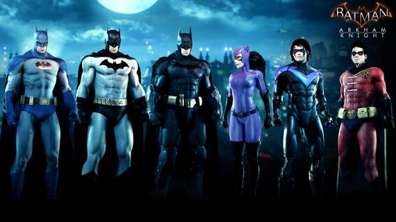 Imagen promocional del DLC The Bat-family Skins Pack para Batman: Arkham Knight (2015)