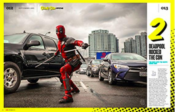 Scan de Deadpool (2016) de la revista Empire