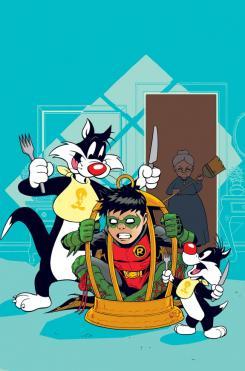 Portada alternativa Looney Toons de Robin: Son of Batman #6
