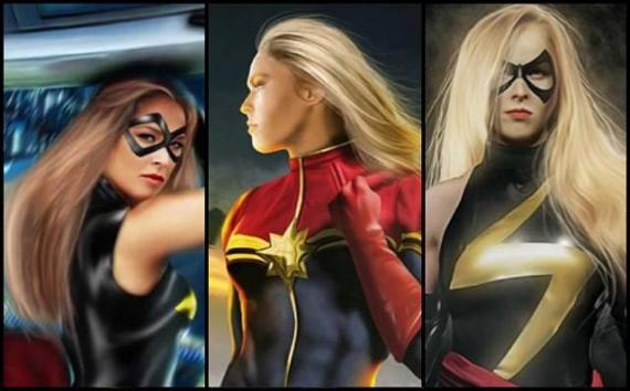 Fan-arts de Ronda Rousey como Capitana Marvel