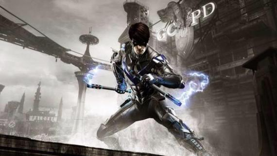 Nightwing en el DLC GCPD Lockdown de Batman: Arkham Knight (2015)