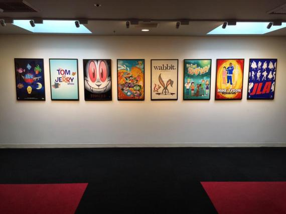 Posters en las oficianes de Cartoon Network o Warner Bros.