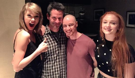 Taylor Swift visita el set de X-Men: Apocalipsis (2016)