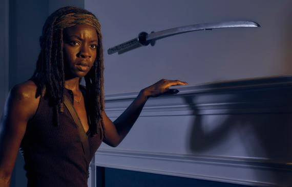 Michonne en la sexta temporada de The Walking Dead