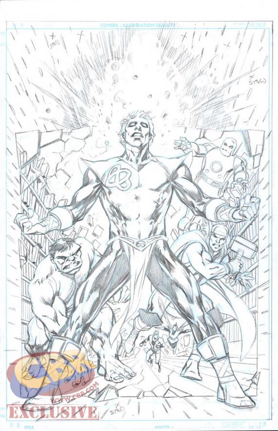 """Artwork portada de """"Infinity Entity"""" #1, por Alan Davis"""