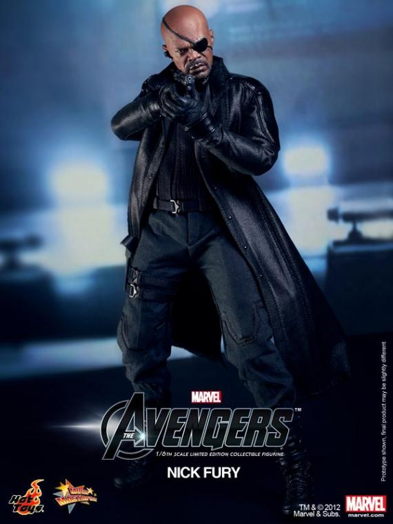 Figura de Nick Fury de The Avengers (2012) de Hot Toys