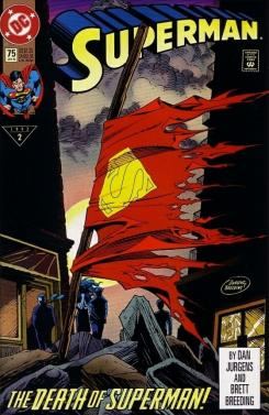 Portada de Superman #75, The Death of Superman