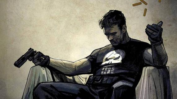Portada alternativa de The Punisher (2016) #1, arte por Alex Maleev