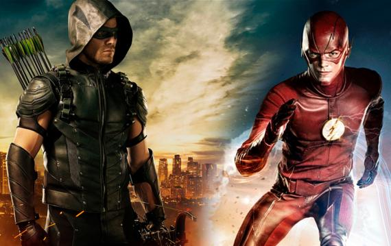 Montaje con imágenes de Green Arrow y The Flash