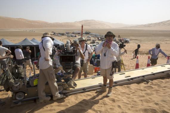 Imagen tras las cámaras de Star Wars: El Despertar de la Fuerza (2016)