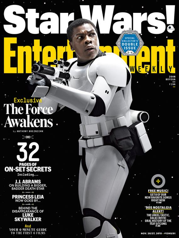 Portada de la revista Entertainment Weekly dedicada a Star Wars: El Despertar de la Fuerza (2015)