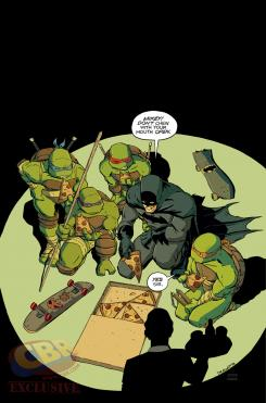 Portada alternativa de Batman / TMNT #1 por Nick Dragotta