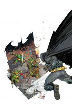 Portada alternativa de Batman / TMNT #1 por Kenneth Rocafort
